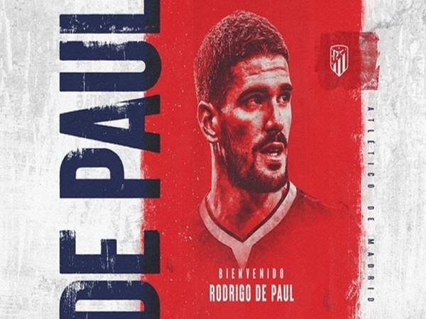 Chuyển nhượng bóng đá 13/7: Atletico Madrid chính thức sở hữu De Paul